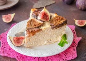 Рецепт диетическая творожная запеканка с инжиром без сахара и муки