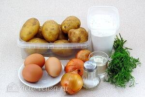 Драники из картошки с начинкой из яиц и лука: Ингредиенты