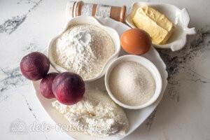 Галета со сливами на творожном тесте: Ингредиенты