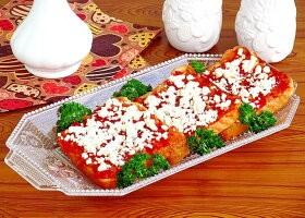 Рецепт горячие бутерброды с брынзой и помидорами «анисимовские»