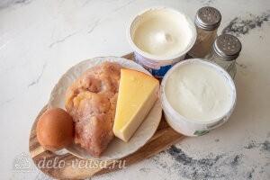 Диетические мясные ватрушки с сыром и творогом: Ингредиенты