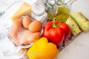 Перец фаршированный курицей и кабачками: Ингредиенты