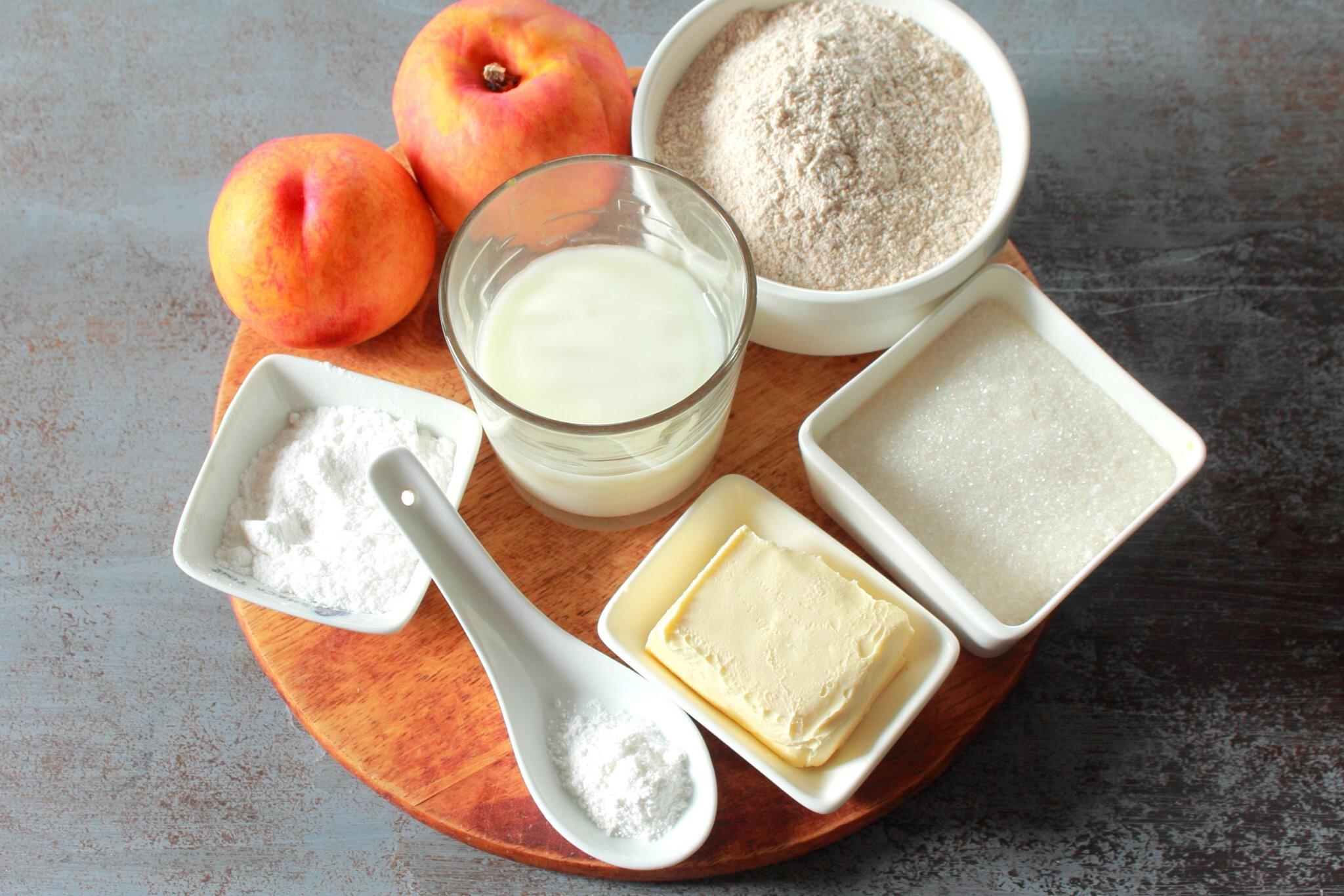 Персиковый коблер: Ингредиенты