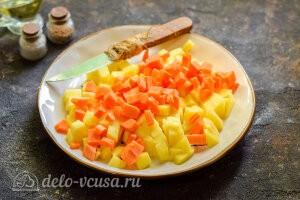 Питтипанна шведская Pyttipanna6 Морковь режем кубиками