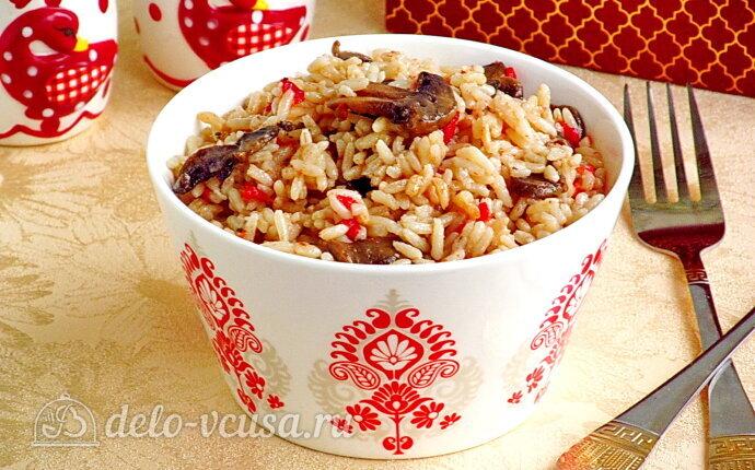 Рис по-креольски с грибами