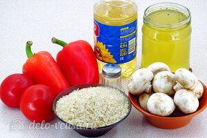 Рис по-креольски с грибами: Ингредиенты