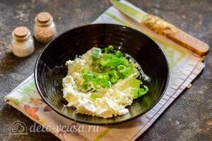 Готовим сырный крем из сливочного сыра и зелени