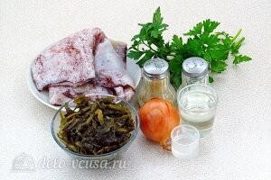 Салат из кальмаров с морской капустой: Ингредиенты