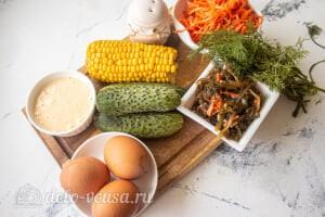 Салат из морской капусты с морковью по-корейски: Ингредиенты