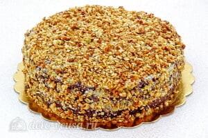 Шоколадный торт на кефире «Особый повод»: Украшаем торт хлопьями