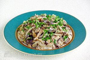 Тушеные баклажаны в сметане «Фальшивые грибы» готовы