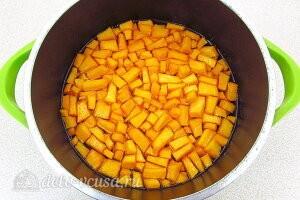 Варенье из тыквы с курагой на зиму: Оставляем на два часа и отправляем на плиту