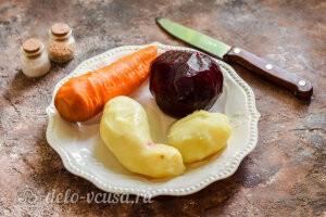 Винегрет овощной как в детским саду: варим и чистим овощи для салата