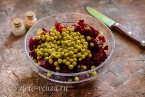 Винегрет овощной как в детским саду: Добавляем консервированный горошек