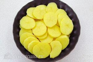 Картофель по-савойски: Картошку режем кружочками и кладем в форму