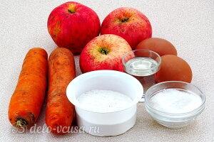 Яблочно-морковные оладьи: Ингредиенты