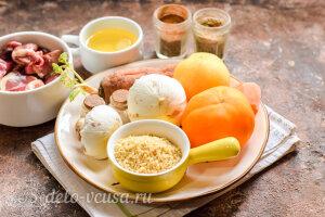 Булгур с куриными сердечками и грибами: Ингредиенты
