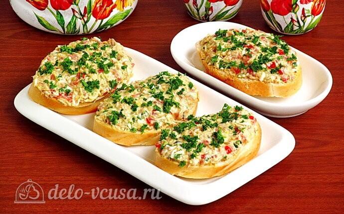 Бутерброды из рыбных консервов «Сказочные»
