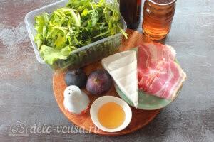 Cалат с инжиром, мягким сыром и беконом: Ингредиенты