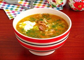 Рецепт гороховый суп «солдатский» с тушенкой
