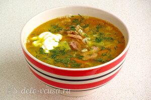 Гороховый суп «Солдатский» с тушенкой готов