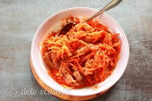 Хе из щуки по-корейски: Соединяем морковь с маринованной рыбой