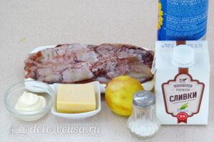 Кальмары в сливочном соусе в духовке: Ингредиенты