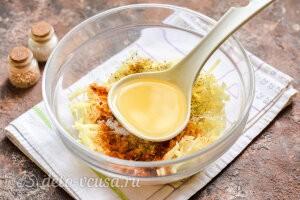 Картофель по-корейски: В картофельный салат вливаем разогретое масло