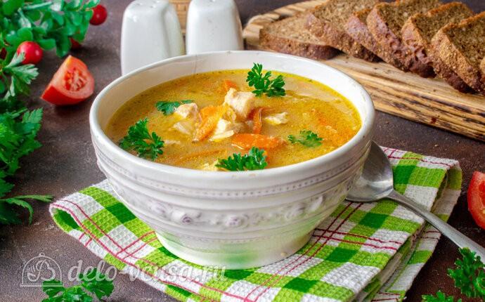 Куриный суп с манкой и морковью по-корейски
