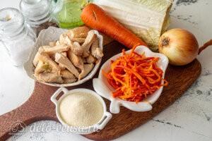Куриный суп с манкой и морковью по-корейски: Ингредиенты