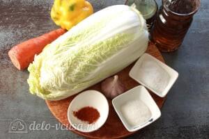 Маринованная пекинская капуста: Ингредиенты