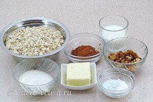 Пирожное «Картошка» с овсяными хлопьями: Ингредиенты
