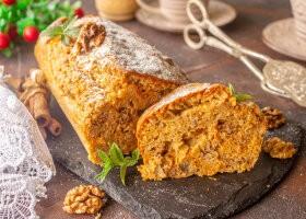 Рецепт пряный морковный кекс с орехами