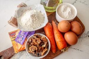 Пряный морковный кекс с орехами: Ингредиенты