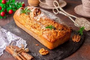Пряный морковный кекс с орехами: фото к шагу 8.