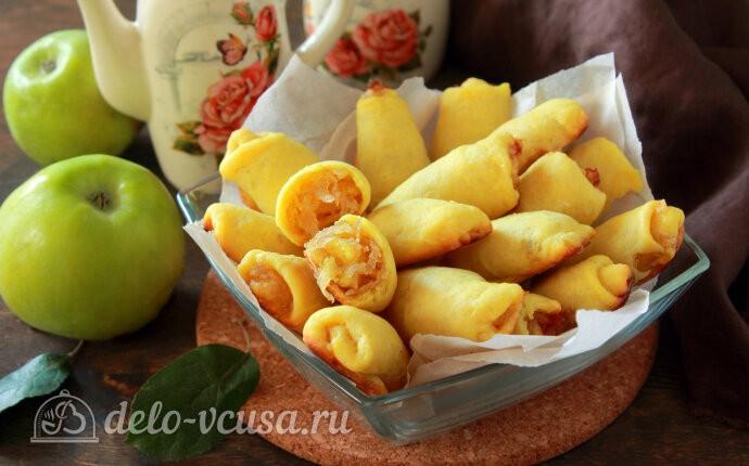 Яблочные трубочки на кефире