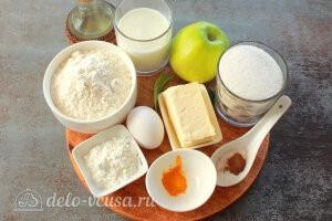 Яблочные трубочки на кефире: Ингредиенты