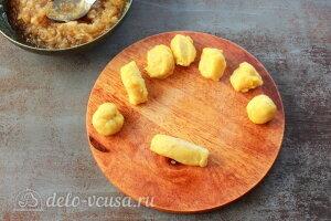 Яблочные трубочки на кефире: Скатываем трубочки