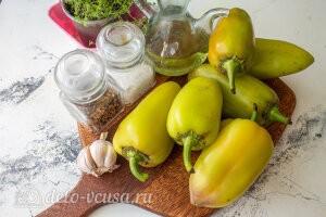 Жареный перец с чесноком «Минутный»: Ингредиенты