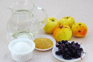 Желе из яблок с черноплодной рябиной: Ингредиенты
