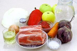Борщ с яблоками и свиными ребрышками: Ингредиенты