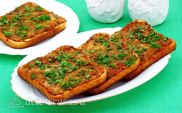 Горячие бутерброды с рыбными консервами в томате