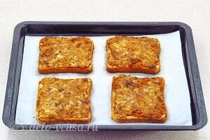 Горячие бутерброды с рыбными консервами в томате: Запекаем бутерброды до готовности