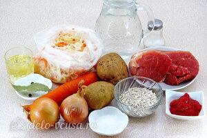 Щи по-уральски с перловкой: Ингредиенты