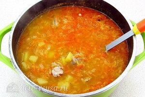 Щи по-уральски с перловкой: Даем супу хорошо настояться