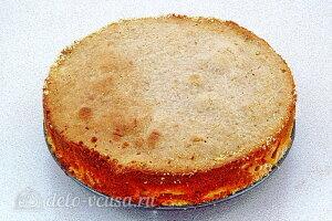 Яблочный пирог из печенья «Винтаж»: Готовый пирог остужаем и режем на порции