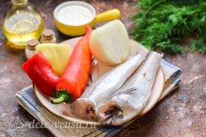 Рыба в духовке под овощным соусом: Ингредиенты