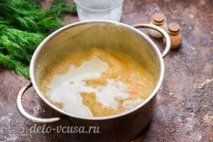 Суп-пюре из цветной капусты: Добавляем сливки