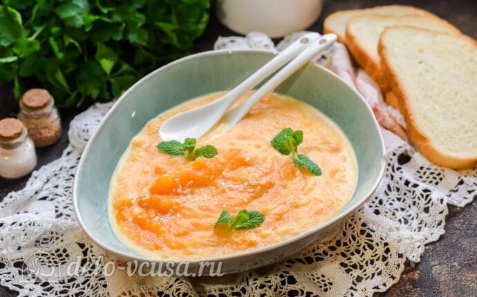 Морковный суп-пюре со сливками
