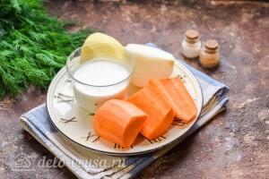 Морковный суп-пюре со сливками: Ингредиенты